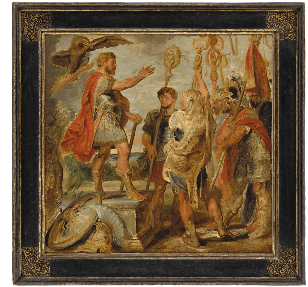 National Art Gallery Framing a Heroic Scene by Rubens
